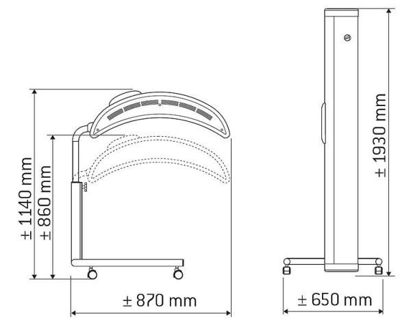 Hapro Solarium Sonnenhimmel Topaz 10/1 V