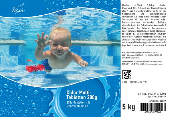 Birke Wellness Chlor Multi-Tabletten 5 kg