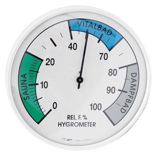 rundes Vitalbad/Sauna-Hygrometer
