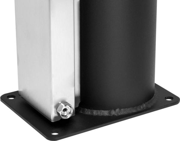 Solardusche Edelstahl Inox 40 l Gartendusche mit Einhebelmischbatterie