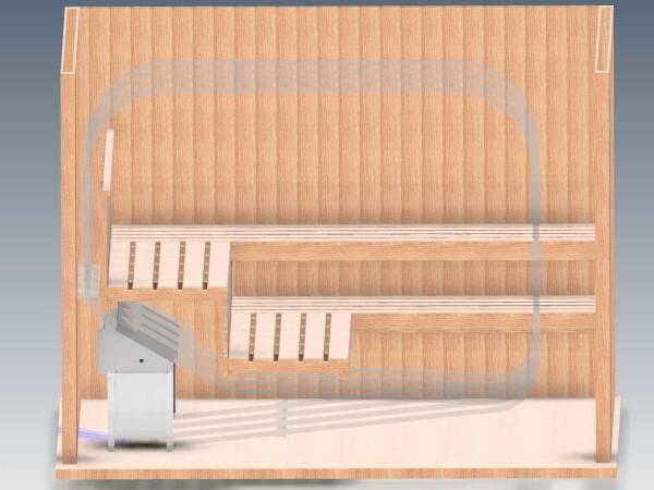 EOS Invisio XL finnischer Saunaofen Unterbankofen