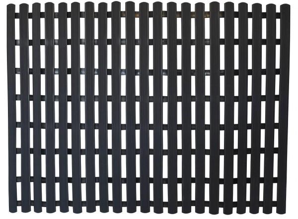 PVC Fußbodenmatte 60x80cm schwarz