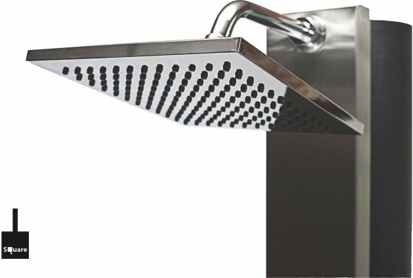 Inox Duschkopf chrom für Inox Dusche 40l + 60l 20x20cm