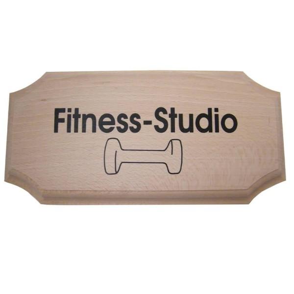 Eliga Türschild -Fitness Studio- eckig