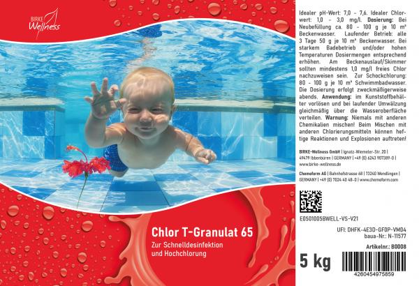 Birke Wellness Chlor T-Granulat 65 - 5 kg