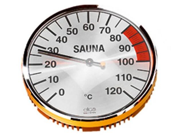 Eliga Thermometer 135 mm verchromt
