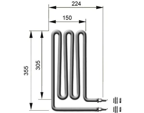 EOS Heizstab 2500 Watt für Saunaofen