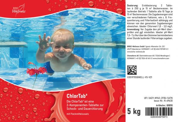 Birke Wellness Chlortab² 5 kg